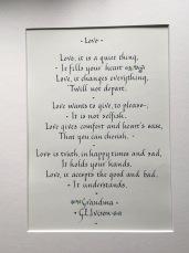 Love poem commission